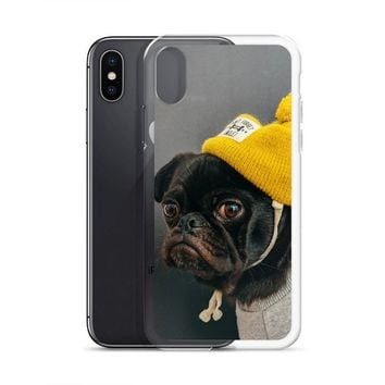 Cute Pug With Wooly Hat -   Iphone 6/6S - Iphone 6 Plus/6S Plus Case -Iphone 7/8 - Iphone 7 Plus / 8 Plus - Iphone X/Xs - Iphone XS Max By i