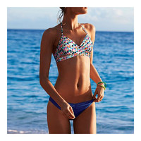 Swimwear Swimsuit Colorful Bathing Suit  cross cup  S