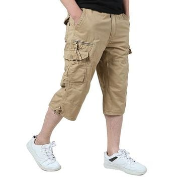 Men's Cargo Capri Shorts