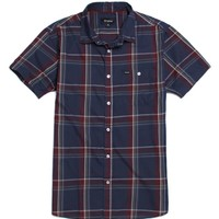 Brixton Howl Short Sleeve Woven Shirt - Mens Shirts - Blue