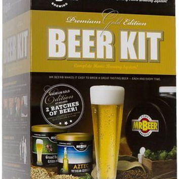 Mr. Beer Premium Gold Edition Home Brew Kit Party Friends BBQ Homebrewing System
