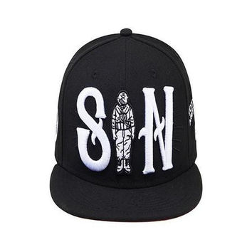 JAY FLOW X SOUL DIVE SIN ODD EYES SNAPBACK HAT BLACK