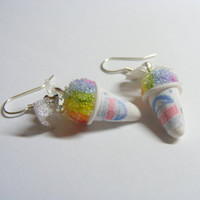 Sno Kone Rainbow Miniature Food Earrings  Miniature by NeatEats