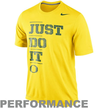 Nike Oregon Ducks Just Do It Legend Performance T-Shirt - Yellow