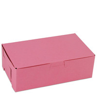 Pink 1 LB Bakery Box