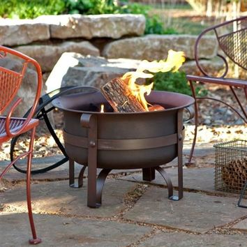 Heavy Duty Steel Fire Pit Cauldron with Stand and Cover