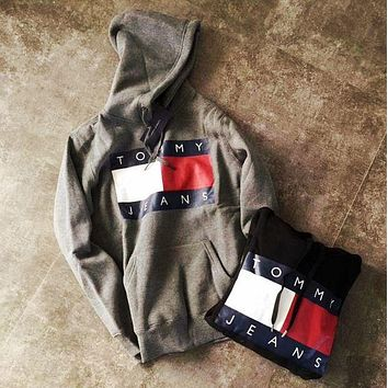 Tommy Hilfiger Casual Fashion Hooded Top Pullover Sweater Sweatshirt Hoodie