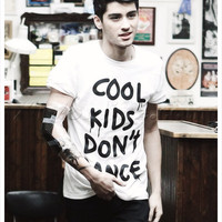 COOL Kids Don't Dance Shirt as seen on 1D One Direction Zayn, great gift or fun shirt