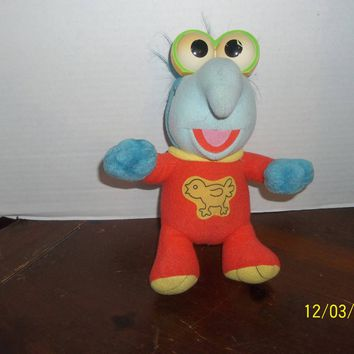 "vintage 1992 kid child dimension muppet babies baby gonzo plush 10"" tall"