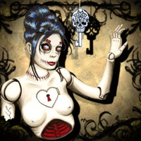 Zombie Doll Art Broken 5x7 archival print by ShayneoftheDead