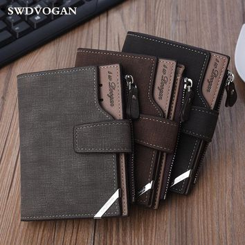Wallet Male Coin Trifold Purse For Men