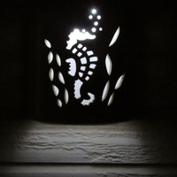 Sea Horse nautical cut out exterior porch light