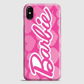 Barbie Pink Logo Cover iPhone X Case