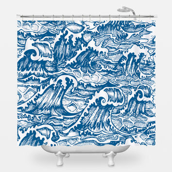 The Perfect Storm Shower Curtain