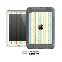 The Vintage Colored Stripes Skin for the Apple iPad Mini LifeProof Case
