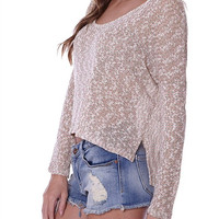 Knit High-Low Top