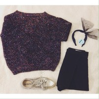 Sparkling black sweater