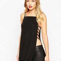ASOS Tunic in Crepe With Square Neck And Split Sides