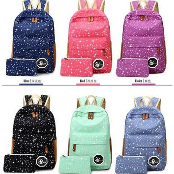 J-Bg Pink 2016 Hot Sale Canvas Women backpack Big Capacity School Bags For Teenagers Printing Backpack For Girls Mochila Escolar