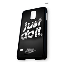 Black Nike Stripe Just Do It Samsung Galaxy S5 Case