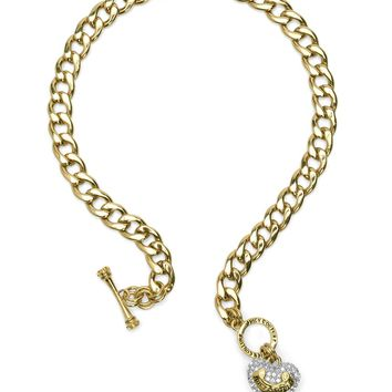 Pave Banner Heart Starter Necklace by Juicy Couture