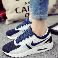 fashion nike reflective sneakers sport shoes blue-1