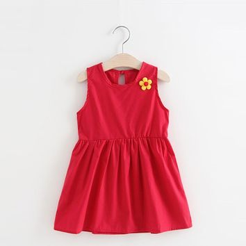 Princess Flower Party Dress For Baby Girl