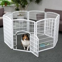IRIS 8-Panel with Door Plastic Pet Playpen