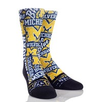 Michigan Wolverines Socks NCAA Athletic Crew Rock Em