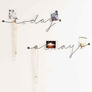 Plum & Bow Wire Text Wall Art