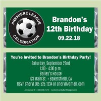 Soccer Birthday Candy Bar Wrappers