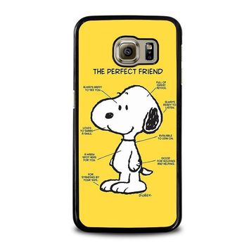 snoopy dog perfect friend samsung galaxy s6 case cover  number 1
