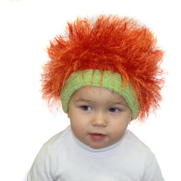 Baby hats / Cabbage Patch Kids Hat  / Beanie Wig  / Children  fuzzy hat  / Baby costume / Halloween Costume / Pumpkin