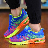 Multi-Color Man Running Shoes Athletic Mesh Sneaker Cushioned Footbed