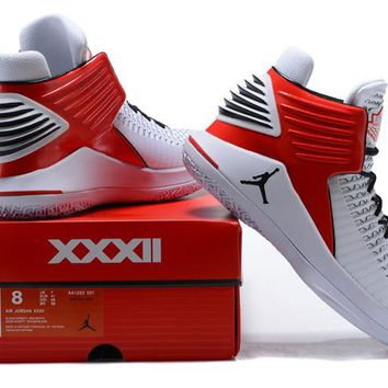 Air Jordan 32 XXXII White/Red Basketball Shoe 40-46