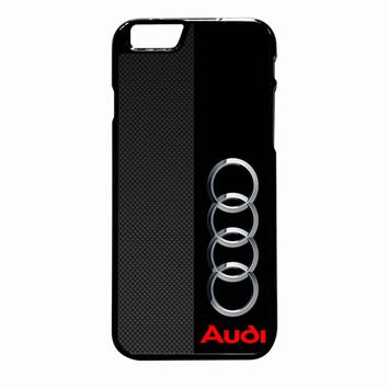 Audi Logo On A Field Of Black And Simulated Carbon Fiber iPhone 6 Plus case