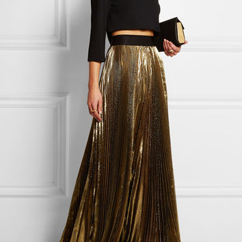 Faith Connexion | Pleated lamé maxi skirt | NET-A-PORTER.COM