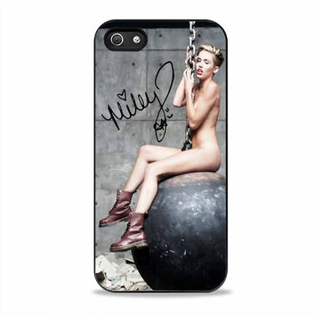 Miley cyrus Wrecking ball and signature actress Iphone 5S Cases