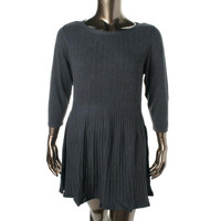 Style & Co. Womens Plus Knit 3/4 Sleeves Sweaterdress
