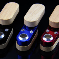 3pcs/lot New magic wood metal smoking pipe Hand Pipe rolling machine grinder vaporizer Alternative Measures