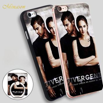Minason Newest Design Divergent Movie Mobile Phone Shell Soft TPU Silicone Case Cover for iPhone X 8 5 SE 5S 6 6S 7 Plus