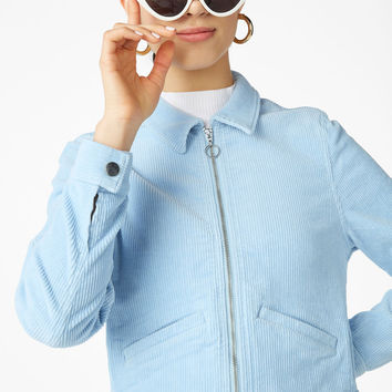 Corduroy jacket - Blue bae blue - Coats & Jackets - Monki GB