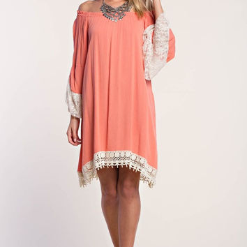 Bell Sleeve Peasant Dress