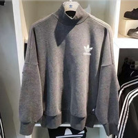 """Adidas"" Print Hooded Pullover Tops Sweater Sweatshirts"