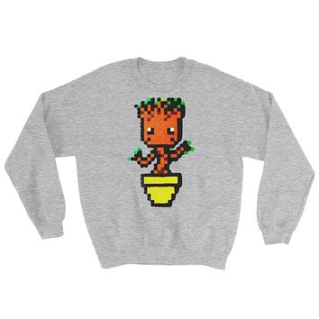 Baby Groot Perler Art Sweatshirt by Aubrey Silva