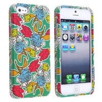 eForCity Snap-on Hard Case Cover compatible with Apple® iPhone® 5, Rose Garden