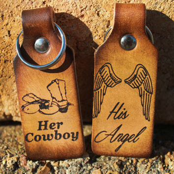 Her Cowboy, His Angel Keychains
