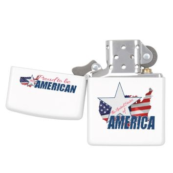 Proud to be an American Zippo Lighter