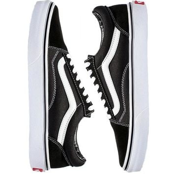 Vans Old School Classics Casual Canvas Flats Black/White Soles Sneakers Sport Shoes