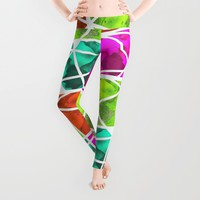 Pieces of Fish Leggings by Alan Hogan